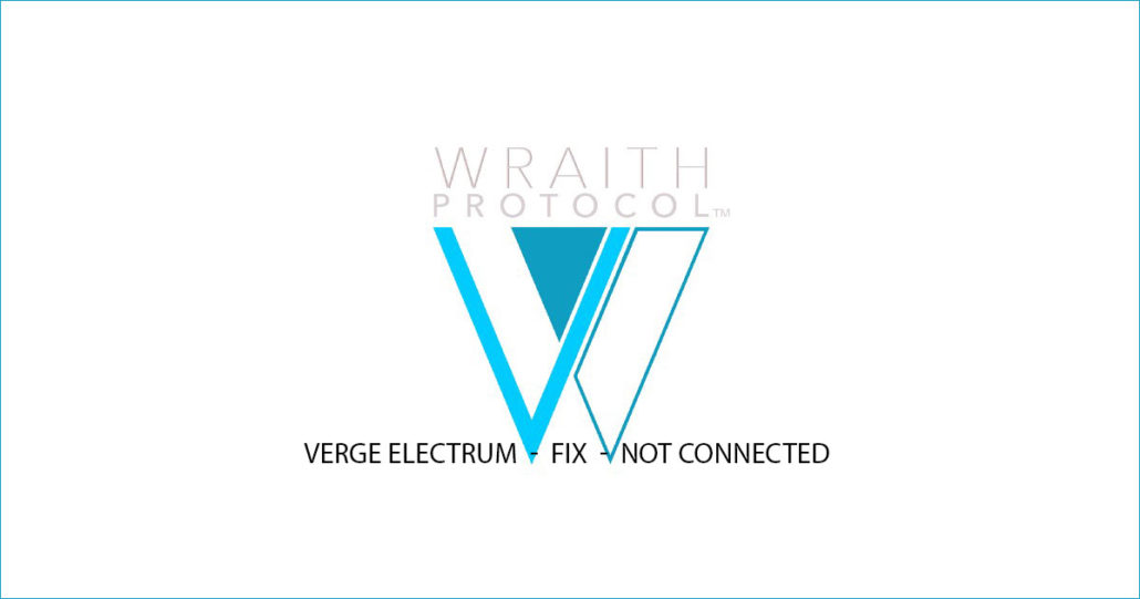 Verge Electrum wallet not connected - XVG Synchronisationsproblem